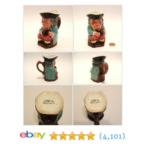Miniature Toby Character Jug Kelsboro Ware Made in England 3.75 #ebay @okanaganvintage  #etsy #PromoteEbay #PictureVideo @SharePicVideo