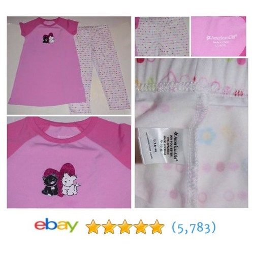American Girl I Love Pets Coconut Licorice Pink Hearts 2 Pc Pajamas #ebay @adelynsarmoire  #etsy #PromoteEbay #PictureVideo @SharePicVideo