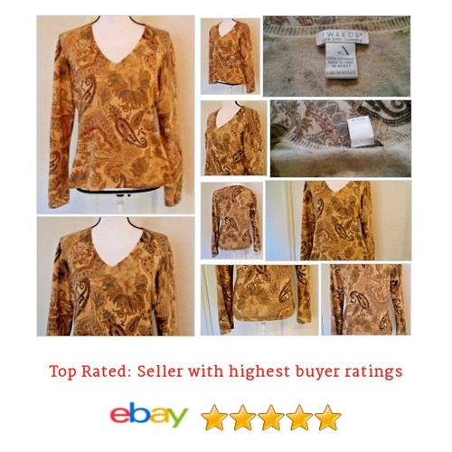 Tweeds Women's sweater Size XL 100% 2 Ply #Cashmere Camel, paisley V neck | eBay #Tweeds #VNeck #Sweater #etsy #PromoteEbay #PictureVideo @SharePicVideo