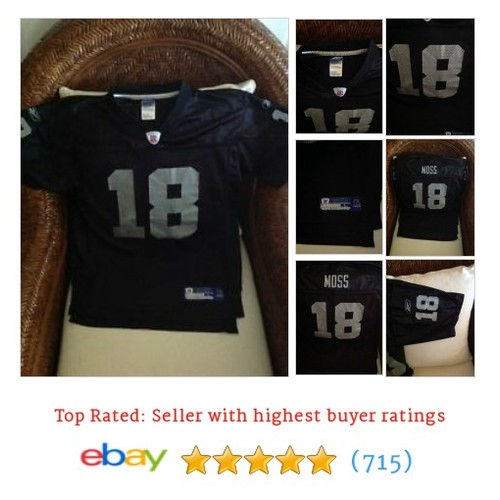 Randy Moss Oakland Raiders Black Silver #sellonebay #ebay @themesias13  #etsy #PromoteEbay #PictureVideo @SharePicVideo
