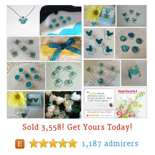 JEWELRY FOR YOUR HAIR by HairSwirls1 Etsy shop  Is #Aqua your #color? #etsy #PromoteEtsy #PictureVideo @SharePicVideo