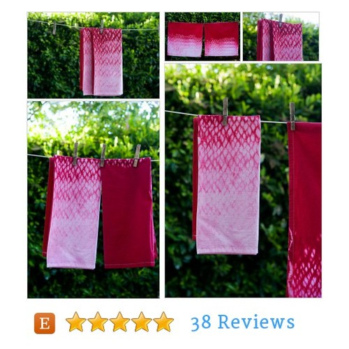 Flour Sack Red Shibori Dyed Kitchen Towels #etsy @islandgirlsj https://SharePicVideo.com?ref=PostVideoToTwitter-islandgirlsj #etsy #PromoteEtsy #PictureVideo @SharePicVideo