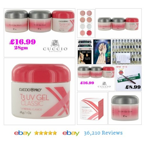 #Cuccio Pro T3 UV Gel 28g High Shine Natural & #Nails Clear Pink White #NailCare #Manicure #etsy #PromoteEbay #PictureVideo @SharePicVideo