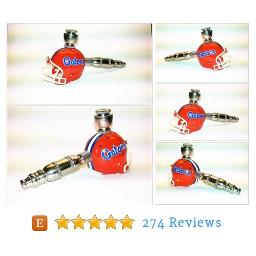 Florida Gators | Helmet Pipe | Nickel #etsy @dcsportpipes  #etsy #PromoteEtsy #PictureVideo @SharePicVideo