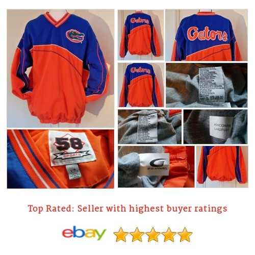 Florida Gators UF Pullover Windbreaker 58 Sports Pullover Orange Size L NCAA | eBay #Coat #Jacket #58Sport #etsy #PromoteEbay #PictureVideo @SharePicVideo