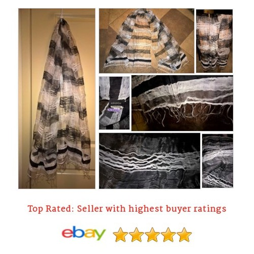 Eskandar Black White Stripes Silk Blend #Scarf | eBay #Wrap #Eskandar #etsy #PromoteEbay #PictureVideo @SharePicVideo