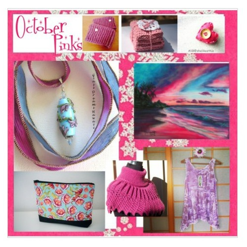 Polyvore Set October Pinks by SylCameoJewelsStore #TintegrityT #integritytt #etsyspecialT #socialselling #PromoteStore #PictureVideo @SharePicVideo