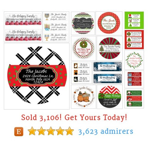 Holiday Address Labels Etsy shop #holidayaddresslabel #etsy @moonlitprints  #etsy #PromoteEtsy #PictureVideo @SharePicVideo