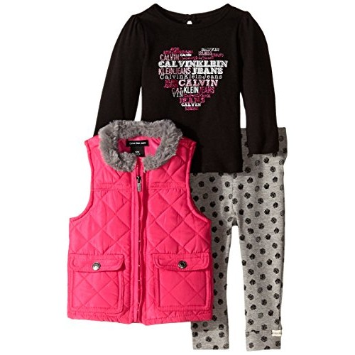 #Calvin #Klein #Baby #Girls' #Pink #Quilted #Vest with #Tee and #Pants, Pink, #12 Months  #socialselling #PromoteStore #PictureVideo @SharePicVideo