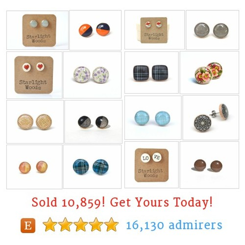 Stud Earrings Etsy shop #studearring #etsy @starlightwoods  #etsy #PromoteEtsy #PictureVideo @SharePicVideo