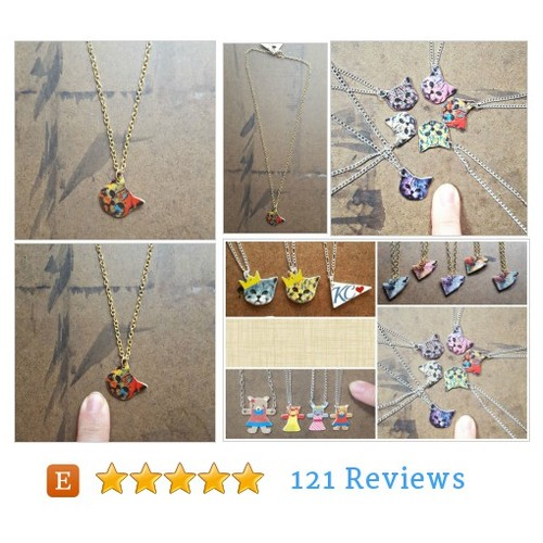 Kids Jewelry | Necklace for Girls | Cat #etsy @rakunshop  #etsy #PromoteEtsy #PictureVideo @SharePicVideo