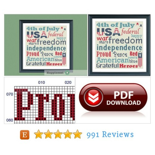 4th of July cross stitch pattern, 4th of #etsy @hithahspam  #etsy #PromoteEtsy #PictureVideo @SharePicVideo