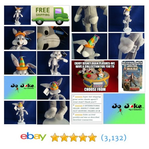 WARNER BROS STORE-BIRTHDAY BUGS BUNNY-10 INCH-HAT WITH STREAMERS--NEW/TAG-1998 | eBay #WARNERBROSSTUDIOSTORE FREE SHIPPING!!! #etsy #PromoteEbay #PictureVideo @SharePicVideo
