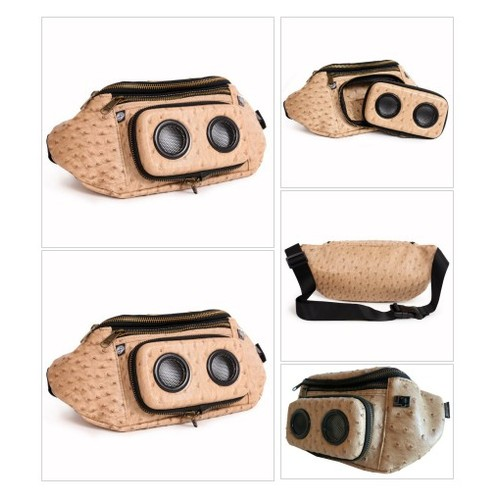 TAN OSTRICH (FAUX) Fanny Pack #socialselling #PromoteStore #PictureVideo @SharePicVideo