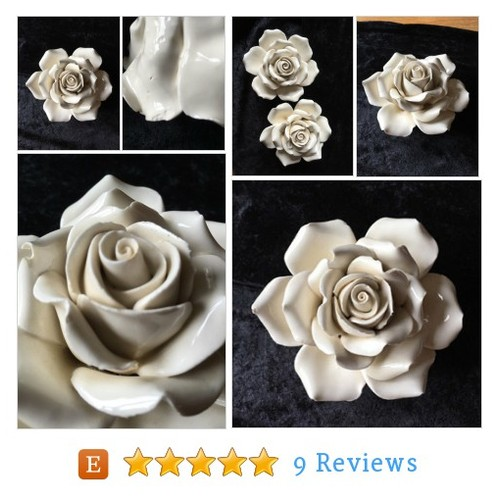 Fine porcelin white rose seventies ceramics #etsy @luckyfrogetsy  #etsy #PromoteEtsy #PictureVideo @SharePicVideo