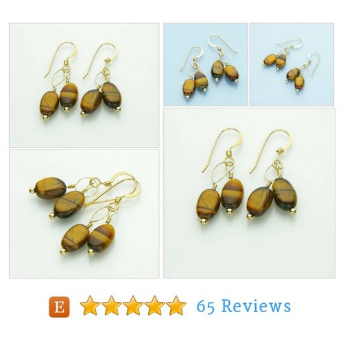 Tigers Eye Earrings, Yellow Tiger Eye #etsy @jularee https://www.SharePicVideo.com/?ref=PostPicVideoToTwitter-jularee #etsy #PromoteEtsy #PictureVideo @SharePicVideo