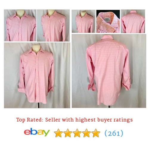 TM LEWIN Luxury 16.5 Large Dress Shirt Bubble Gum Pink French Cuffs #ebay @ourgoodiesshop  #etsy #PromoteEbay #PictureVideo @SharePicVideo
