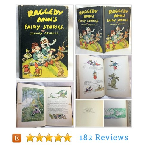 Raggedy Ann's Fairy Stories #Book #etsy @DejaVuVintiques  #etsy #PromoteEtsy #PictureVideo @SharePicVideo