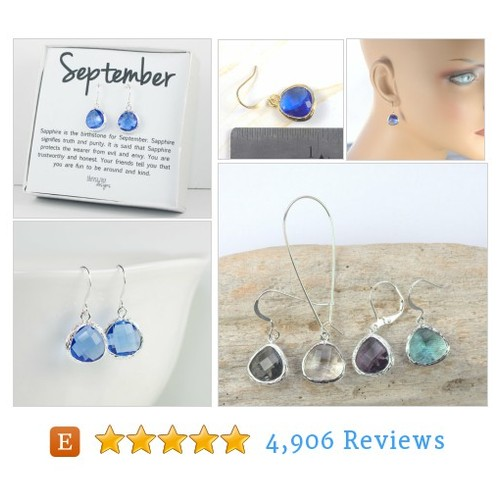 September Birthstone Sapphire Silver Framed #etsy @theresa_rose  #etsy #PromoteEtsy #PictureVideo @SharePicVideo