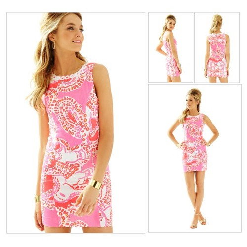 MILA SHIFT  - HOT CORAL TRUNK IN LOVE BY LILLY PULITZER @maddy_144 #shopify  #socialselling #PromoteStore #PictureVideo @SharePicVideo