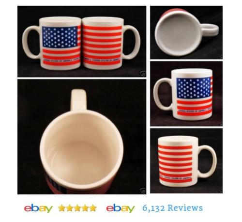 2 AMERICAN FLAG Mugs Coffee Cups Tea Patriotic #Mug #Modern #etsy #PromoteEbay #PictureVideo @SharePicVideo