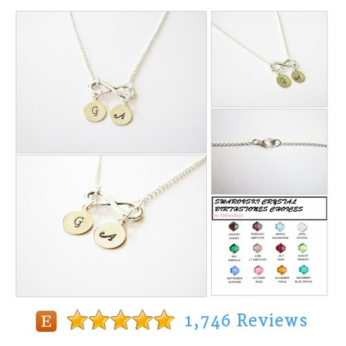 Custom Infinity Necklace, Initial Necklace, #etsy @robertavalle86  #etsy #PromoteEtsy #PictureVideo @SharePicVideo