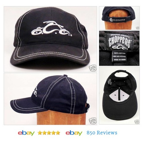 Orange County Choppers Snapback Cap Vtg Black NAPA Sports Baseball Hat #Hat #BaseballCap #etsy #PromoteEbay #PictureVideo @SharePicVideo