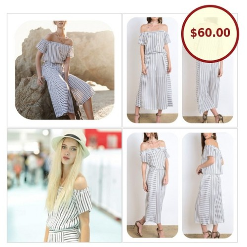 🍃💕Off Shoulder Striped Blouse & Culottes @ethical_addict https://www.SharePicVideo.com/?ref=PostPicVideoToTwitter-ethical_addict #socialselling #PromoteStore #PictureVideo @SharePicVideo