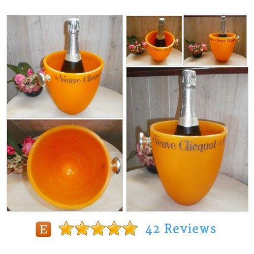 Vintage Veuve Clicquot Champagne bucket - #etsy @manuelamdo  #etsy #PromoteEtsy #PictureVideo @SharePicVideo