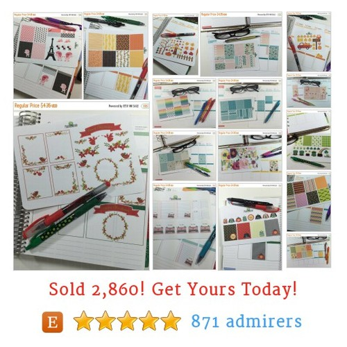 Erin Condren Stickers Etsy shop #etsy @plannernation  #etsy #PromoteEtsy #PictureVideo @SharePicVideo