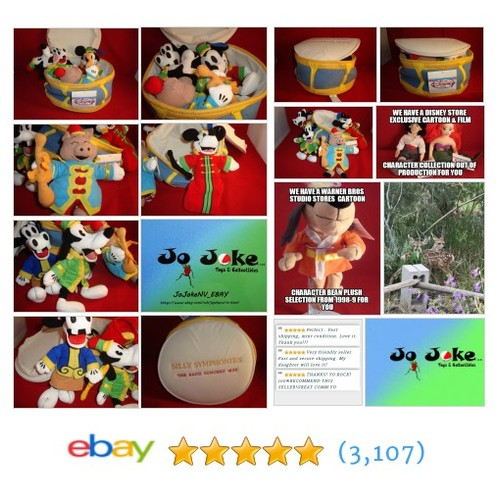 DISNEY-SILLY SYMPHONIES-BAND CONCERT 1935-4 BEAN PLUSHES-DISNEY STORE-NEW/TAGS | eBay #DISNEYSTORE #etsy #PromoteEbay #PictureVideo @SharePicVideo