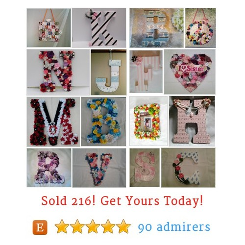 Floral Initials & Shapes Etsy shop #etsy @twocalisisters https://www.SharePicVideo.com/?ref=PostPicVideoToTwitter-twocalisisters #etsy #PromoteEtsy #PictureVideo @SharePicVideo