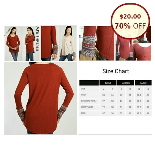 Long sleeve thermal cuff tunic @ajsthreads https://www.SharePicVideo.com/?ref=PostPicVideoToTwitter-ajsthreads #socialselling #PromoteStore #PictureVideo @SharePicVideo