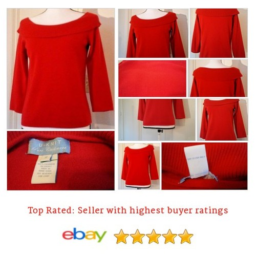 #Sweater #Small S #Red #Cashmere #Date #Work @eBay #UKnit #ScoopNeck #etsy #PromoteEbay #PictureVideo @SharePicVideo