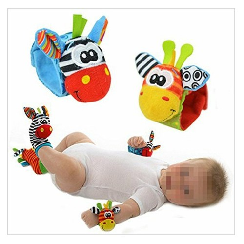 4 x# Baby# Infant #Soft #Toy #Wrist #Rattles #Hands# Feet#finders Developmental#Toys #socialselling #PromoteStore #PictureVideo @SharePicVideo