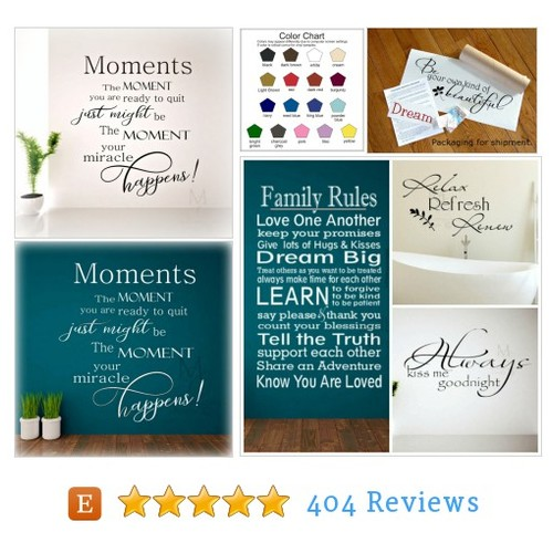 Vinyl Decal Moments/Motivational #etsy @mulberrycreekav  #etsy #PromoteEtsy #PictureVideo @SharePicVideo