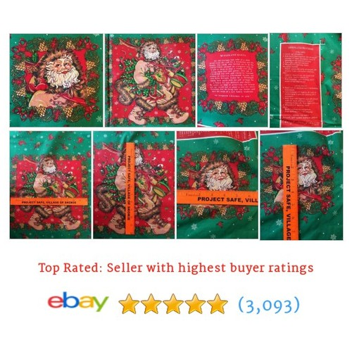 Woodland Santa Fabric Panels Pillows Placemats Cheryl Ann Johnson Vtg #ebay @duchesshazard  #etsy #PromoteEbay #PictureVideo @SharePicVideo