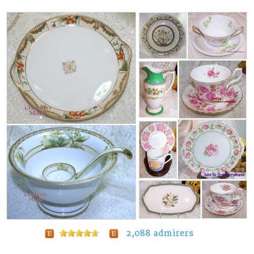 #VintageChina from CranberryManor Etsy shop #etsy #PromoteEtsy #PictureVideo @SharePicVideo