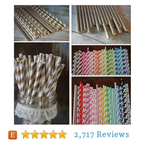 Shimmering Gold Party Paper Straws Set of #etsy @spiral_sage  #etsy #PromoteEtsy #PictureVideo @SharePicVideo