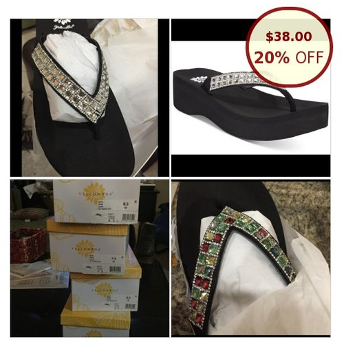 Yellow Box flip flops NWT @alliealp https://www.SharePicVideo.com/?ref=PostPicVideoToTwitter-alliealp #socialselling #PromoteStore #PictureVideo @SharePicVideo