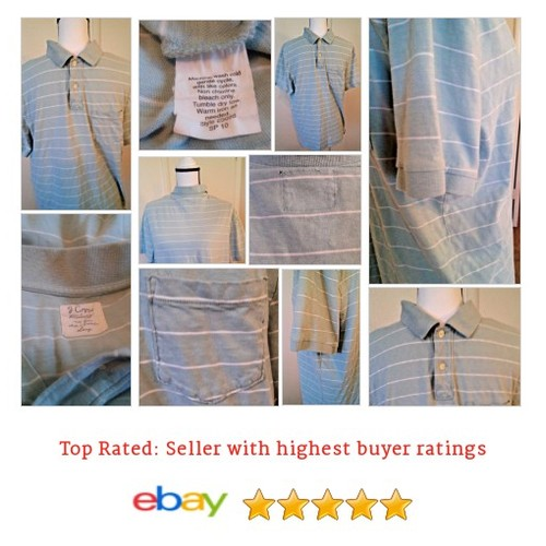J. Crew Men's #Polo Short Sleeve Blue Green Striped Size Large Boating Golf Date | eBay #Rugby #JCrew #etsy #PromoteEbay #PictureVideo @SharePicVideo