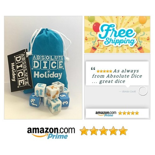 ABSOLUTE DICE Holiday: Toys & Games EASY TO TAKE ALONG ON A VACATION-BUSINESS TRIP-THE PERFECT EXTRA FOR ANY TRIP #socialselling #PromoteStore #PictureVideo @SharePicVideo