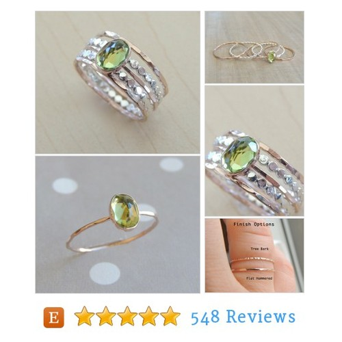 Peridot Ring Set, Gold and Silver Rings, #etsy #PromoteEtsy #PictureVideo @SharePicVideo