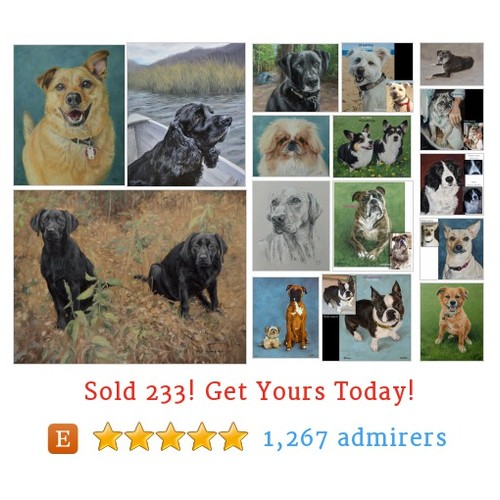 Custom dog portraits Etsy shop #customdogportrait #etsy @animalpaintings  #etsy #PromoteEtsy #PictureVideo @SharePicVideo