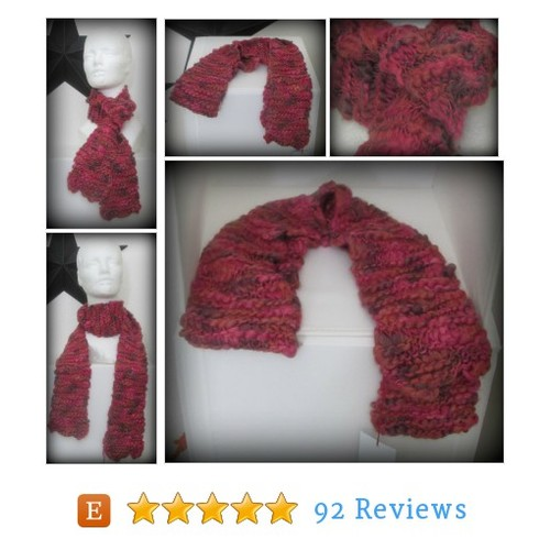 scarf - knit scarf - hand knit scarf - hand #etsy @joyisalwayshere https://www.SharePicVideo.com/?ref=PostPicVideoToTwitter-joyisalwayshere #etsy #PromoteEtsy #PictureVideo @SharePicVideo