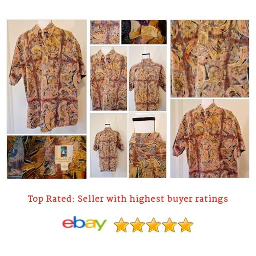 #Kahala Whales and Fish Hawaiian Shirt Size XL Shirt Made USA Mens Spring Fun #Hawaiian #CasualShirt #etsy #PromoteEbay #PictureVideo @SharePicVideo