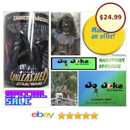 STAR WARS UNLEASHED-DARTH VADER-ADROIT DETAILS-NEW-2006-ONE OF THE BEST FIGURES | eBay  #etsy #PromoteEbay #PictureVideo @SharePicVideo