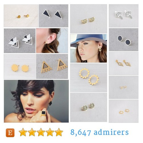 Stud Earrings #etsy shop #studearring @shanijacobi  #etsy #PromoteEtsy #PictureVideo @SharePicVideo