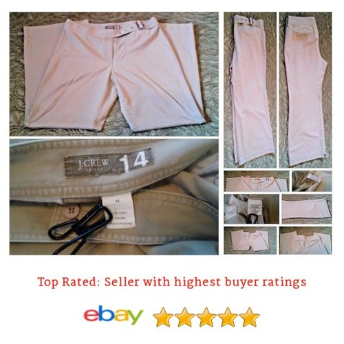 J. Crew Women's Pants Size 14 Beige Chino Cute Attached Belted Waist Spring Fun | eBay #Pant #JCrew #Khaki #etsy #PromoteEbay #PictureVideo @SharePicVideo