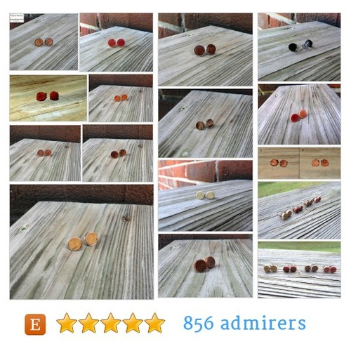 STUD EARRINGS #etsy shop #studearring @tnwoodshop  #etsy #PromoteEtsy #PictureVideo @SharePicVideo